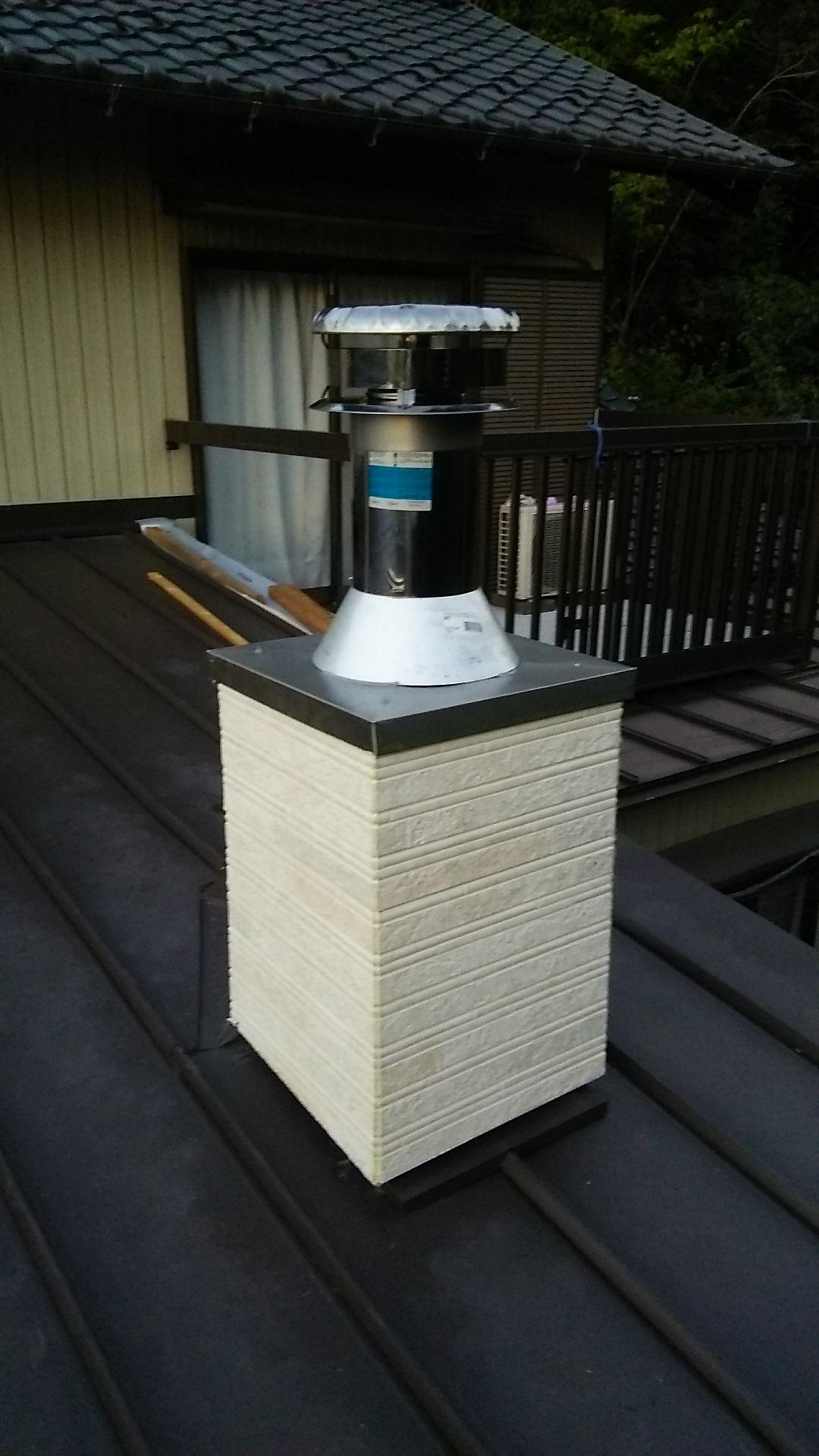 煙突施工の仕方
